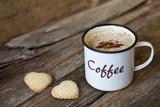 Fotoroleta Kaffeebecher Emaille