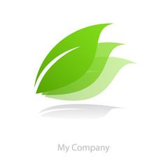 Logo leaf movement in # Vector