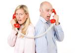 People on telephone