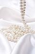jewels on white satin