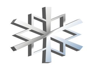 flocon neige 3d