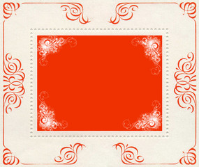red and white vintage banner background