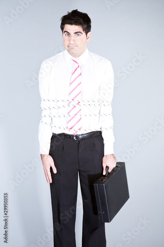 Puzzled businessman