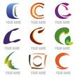 Ensemble d'Icones Lettre C pour Design Logos