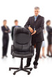 contemporary office chair and businessman