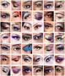 Collection of female eyes images with creative makeup