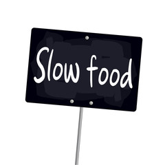 "Ardoise ""Slow food"""