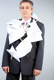 Businessman having responsibilities poster