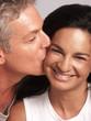 Adult hispanic couple in love.