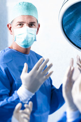 Male Surgeon At Work