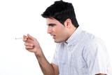 Feeling sick during smoking