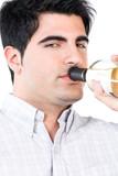 Close up of an alcoholic man poster