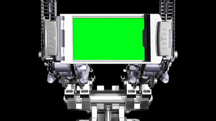 Fantastic mechanical screen with alpha matte