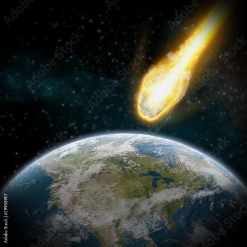 Asteroid und Erde: Meteor Auswirkungen über USA