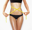 woman measuring perfect shape