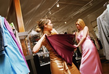 Women Fighting Over Clothes