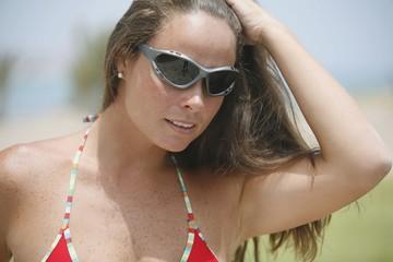 Woman Wearing Sunglasses And Bikini