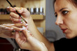 Nail professional - applying gels and colors