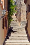 Calle típica de Altafulla, Tarragona, España