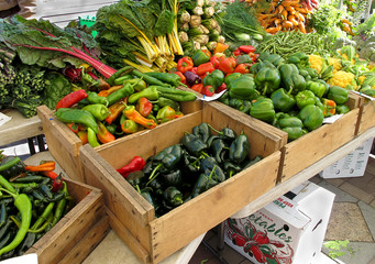 Organic Produce at Farmers Market