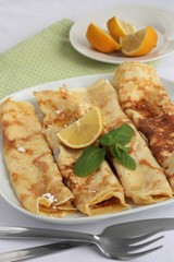 Sugar and Lemon Pancakes
