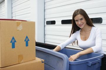 Woman Moving Day