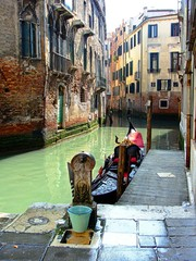 A Small Canal Away from the Crowds in Venice Italy