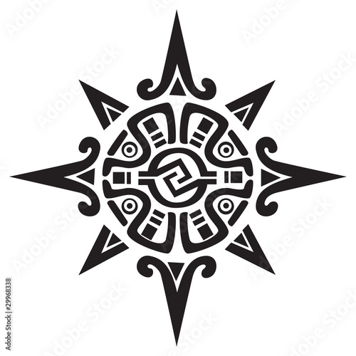 Mayan or Incan symbol of a sun or star