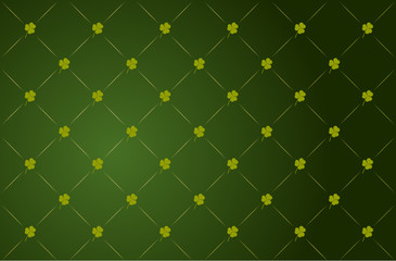 Vector clover background for St. Patrick's Day