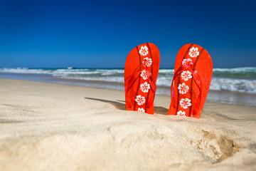flipflops at the beach