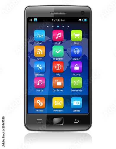 Touchscreen smartphone