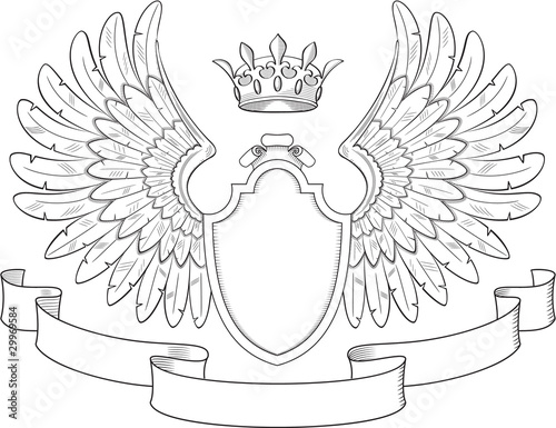 coat of arms with wings