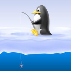 pinguino pescatore