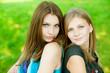 Two young beautiful  woman