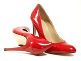 Fototapete Rot - Sexy - Schuhe