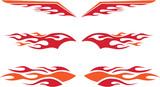 Racing Flames Set - 29974593