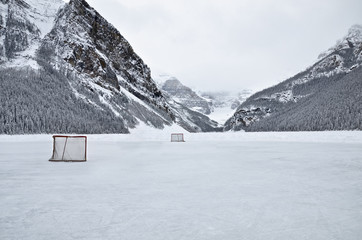 Lake Louise, frozen Lake