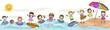 Leinwanddruck Bild - Kids Swimming