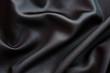 Tissu soie noir - 29976183