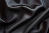 Tissu soie noir