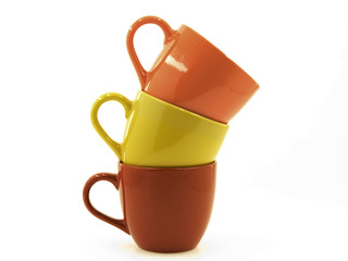 Three  Cups of Differenr Colours