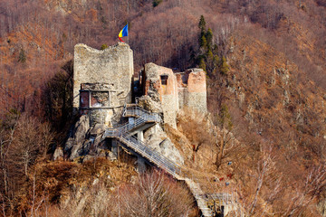 Poienari fortress of Dracula