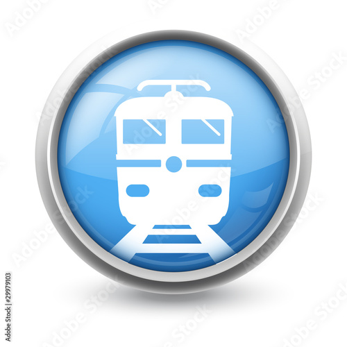 Symbole glossy vectoriel train 01