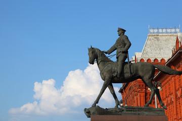 Monument to Marshal of  Soviet Union Georgy  Zhukov