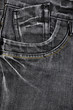 Black jean texture with pocket