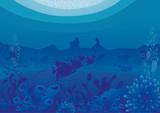 Background Illustration Underwater poster