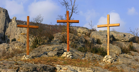 trinity on mountain top
