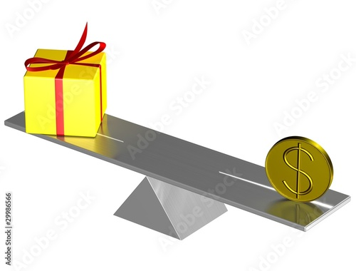 Present box and usd on balance.