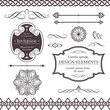 Various borders, dividers, swirly design elements