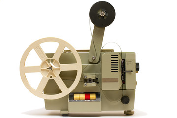 8mm Projector FIlm On - russian